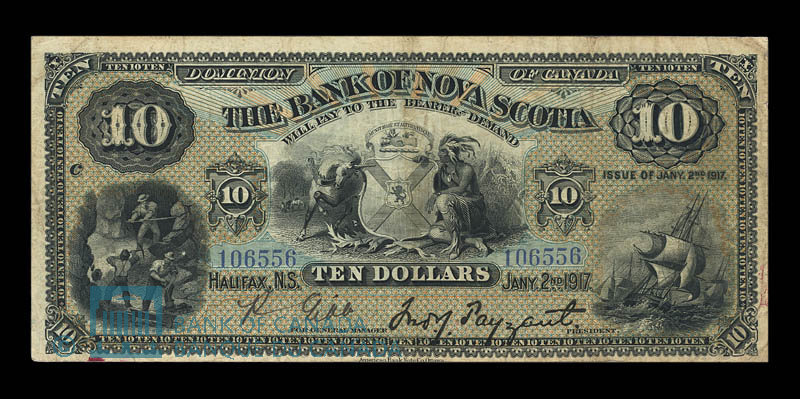 Canada, Bank of Nova Scotia, 10 dollars : January 2, 1917