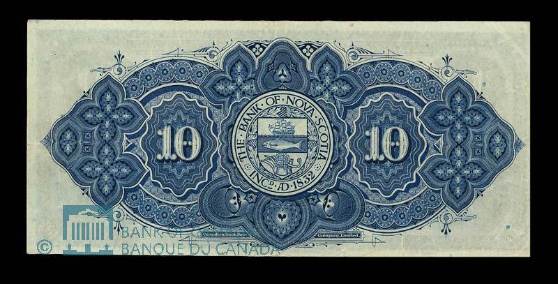 Canada, Bank of Nova Scotia, 10 dollars : January 2, 1924