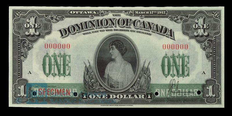 Canada, Dominion of Canada, 1 dollar : March 17, 1917