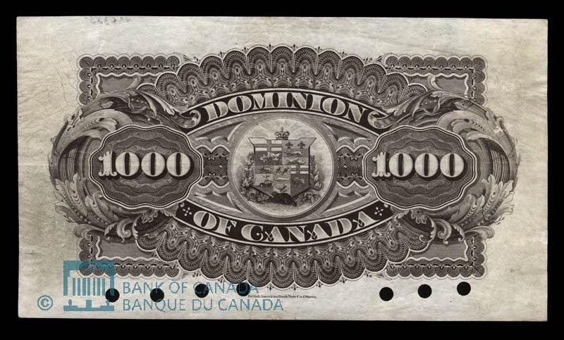 Canada, Dominion of Canada, 1,000 dollars : July 2, 1896