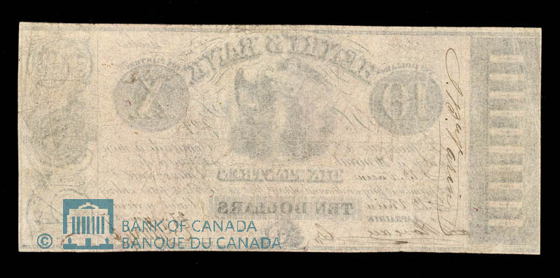 Canada, Henry's Bank, 10 piastres : June 27, 1837