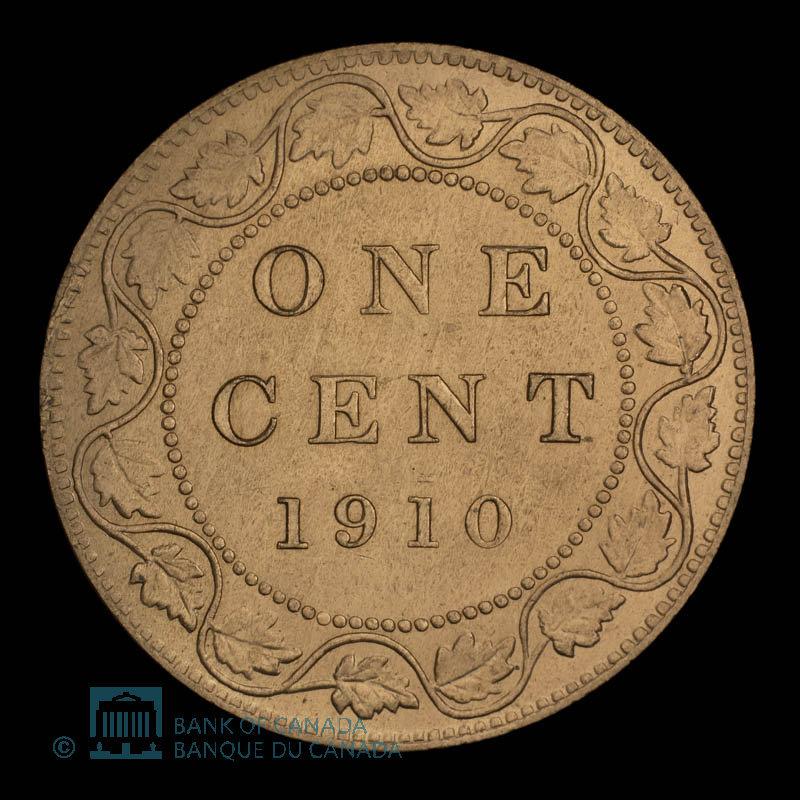 Canada, Edward VII, 1 cent : 1910