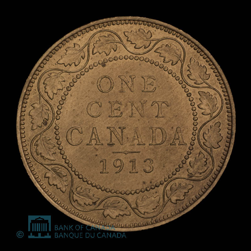 Canada, George V, 1 cent : 1913