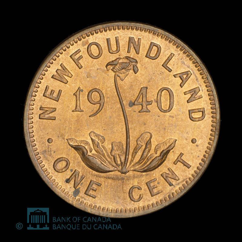 Canada, George VI, 1 cent : 1940