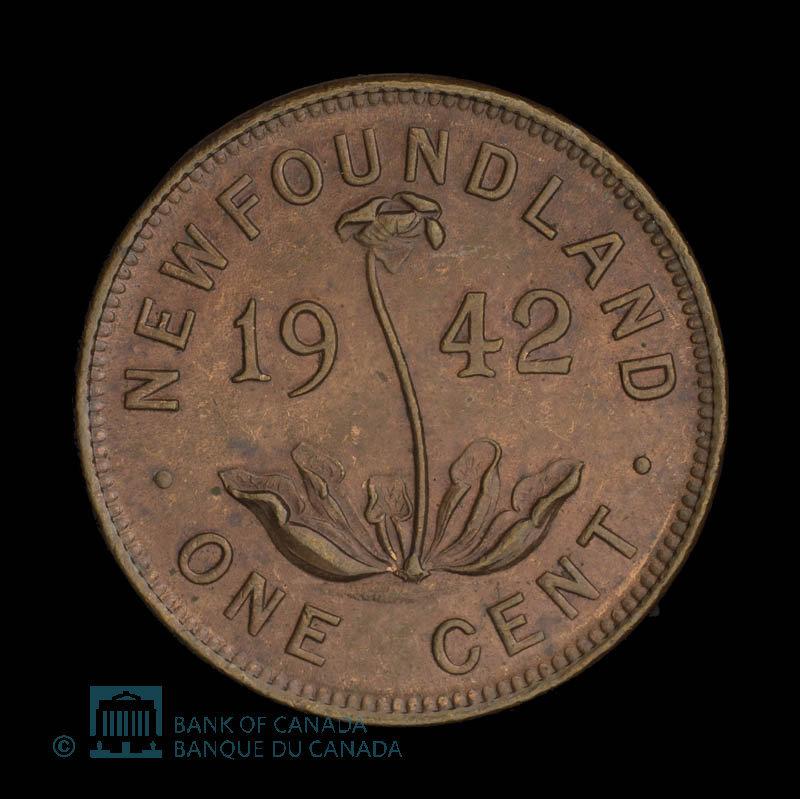 Canada, George VI, 1 cent : 1942