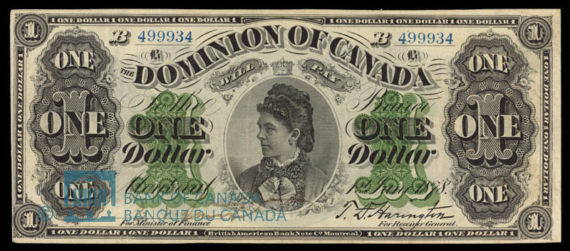 Canada, Dominion of Canada, 1 dollar : June 1, 1878