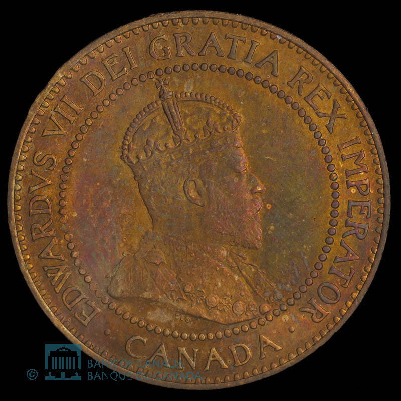 Canada, Edward VII, 1 cent : 1908