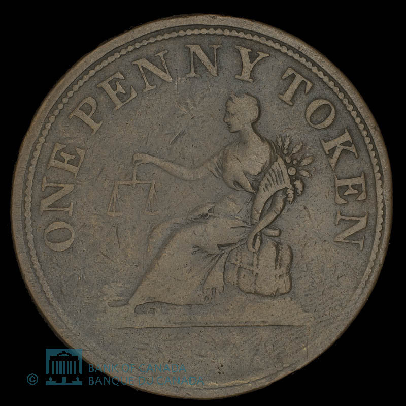 Canada, unknown, 1 penny : 1812