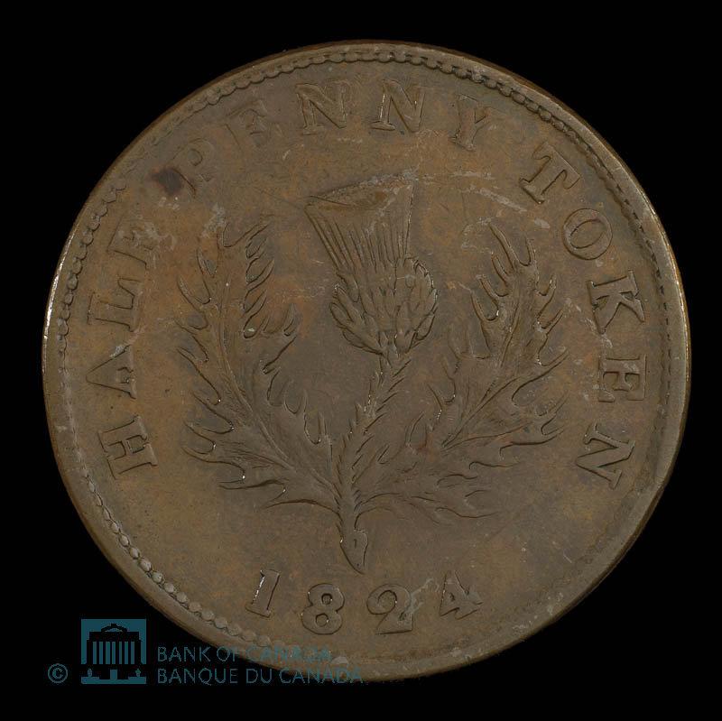 Canada, Province of Nova Scotia, 1/2 penny : 1824