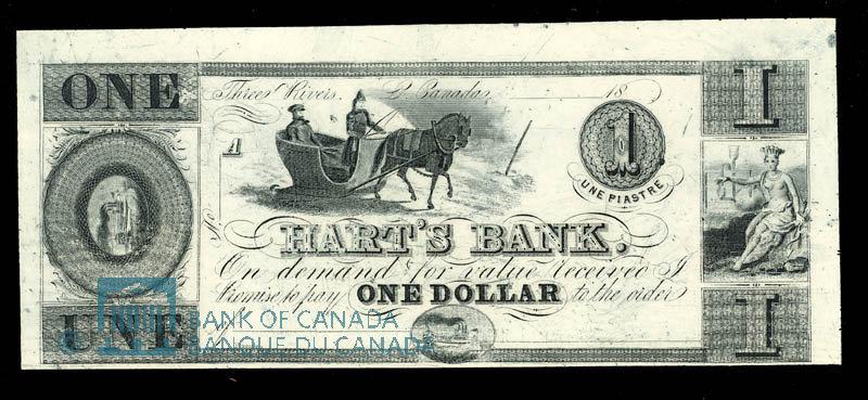 Canada, Hart's Bank, 1 dollar : 1839