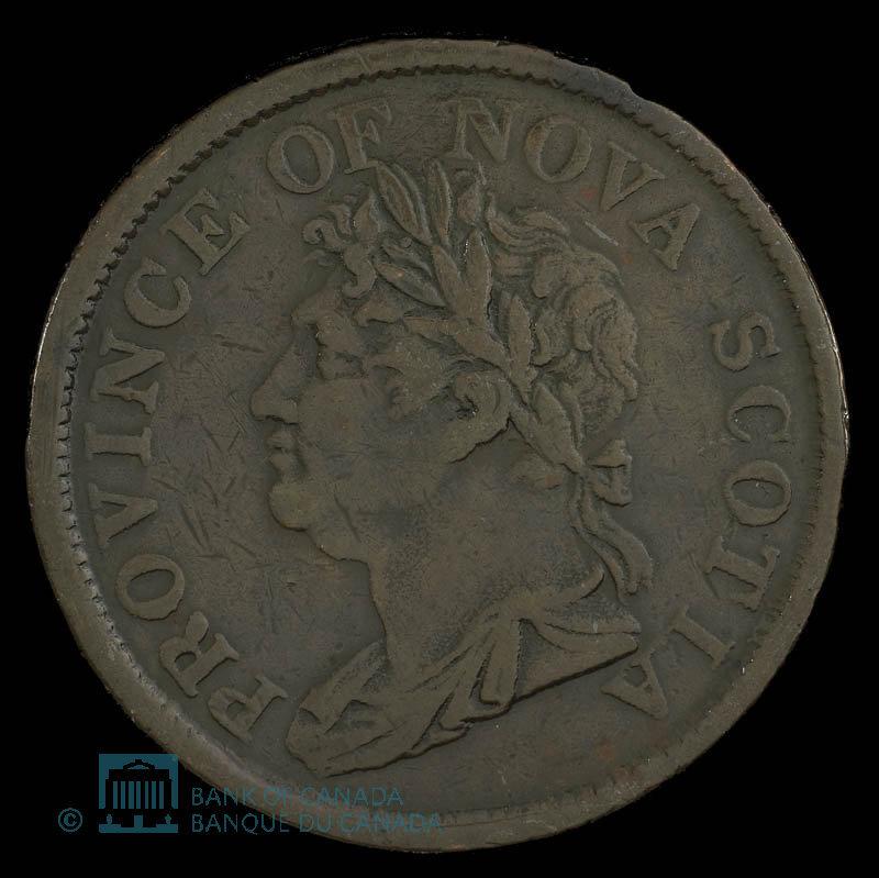 Canada, Province of Nova Scotia, 1 penny : 1824