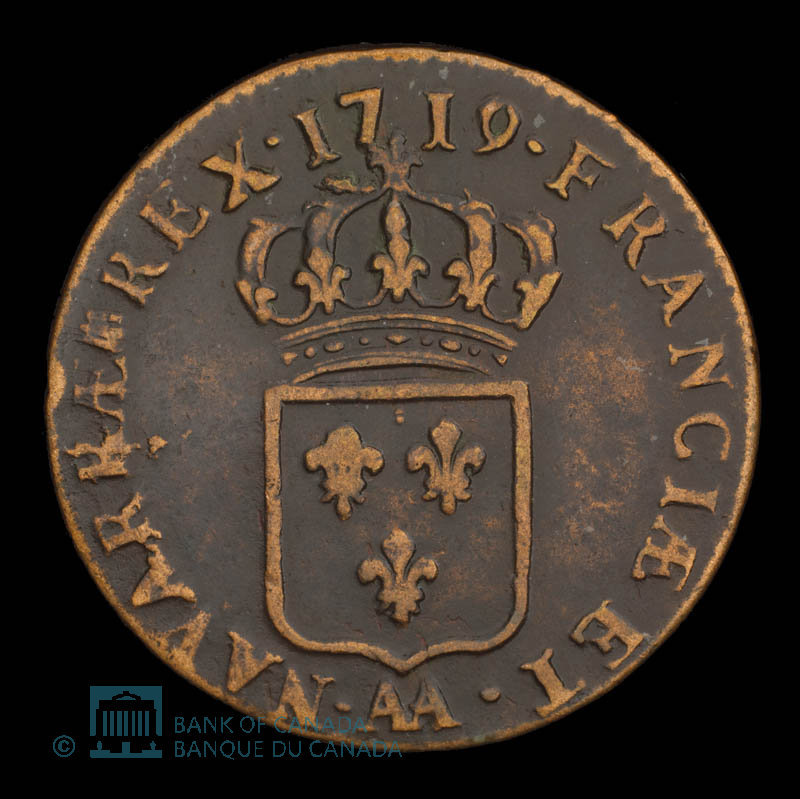 France, Louis XV, 1/2 sol : 1719