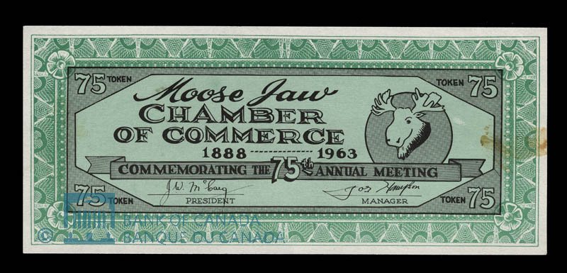 Canada, Moose Jaw Chamber of Commerce, 75 cents : 1963