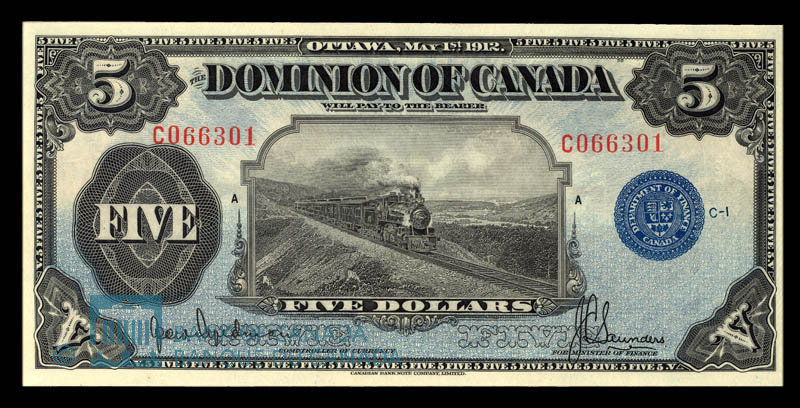Canada, Dominion of Canada, 5 dollars : May 1, 1912