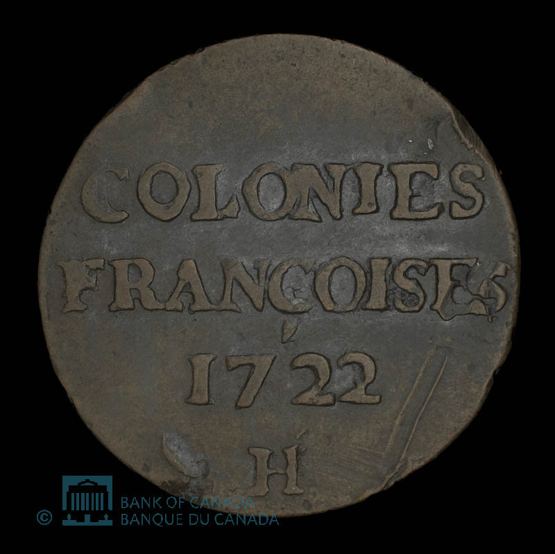 France, Louis XV, 9 deniers : 1722
