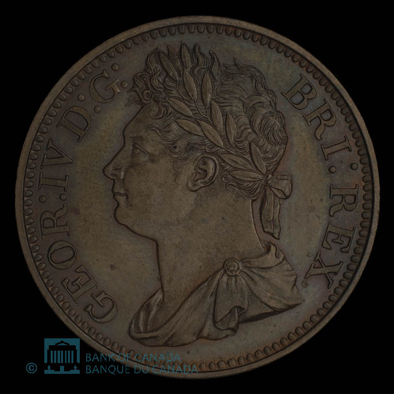 Great Britain, George IV, 1/100 dollar : 1823
