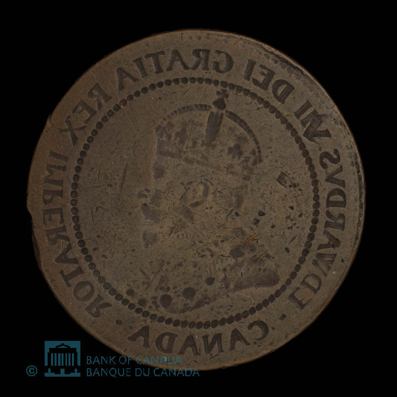 Canada, Edward VII, 1 cent : 1911