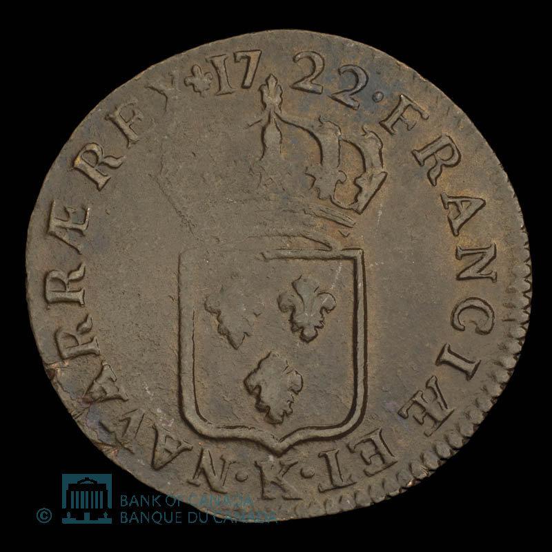 France, Louis XV, 1/2 sol : 1722