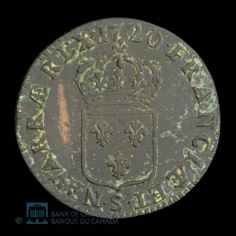 France, Louis XV, 1 sol : 1720