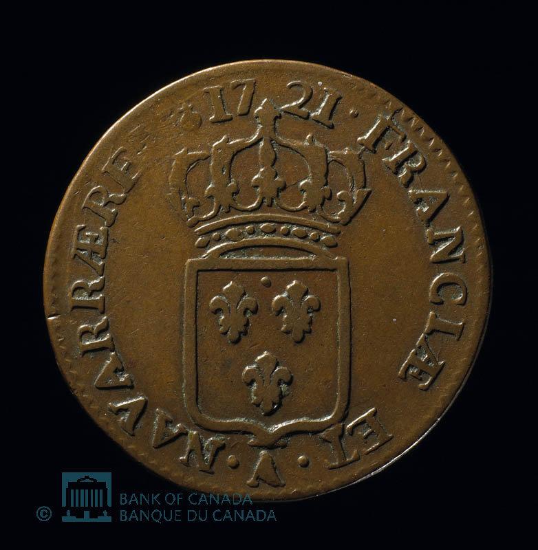 France, Louis XV, 1/2 sol : 1721