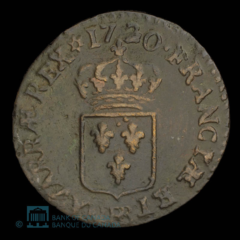 France, Louis XV, 1 liard : 1720