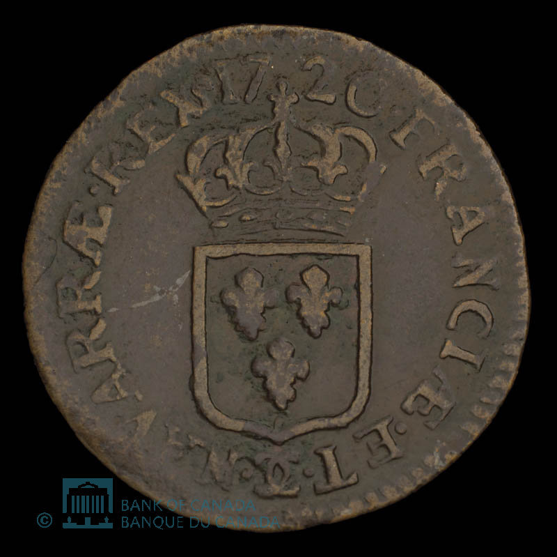 France, Louis XV, 1 liard : 1720