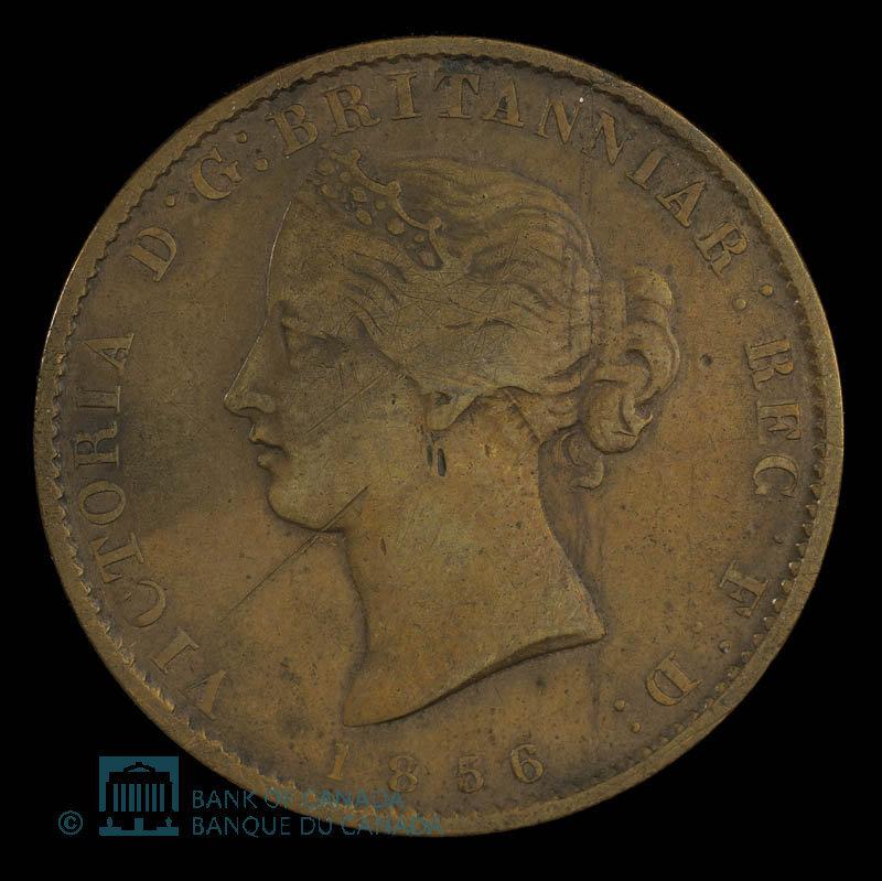 Canada, Province of Nova Scotia, 1/2 penny : 1856