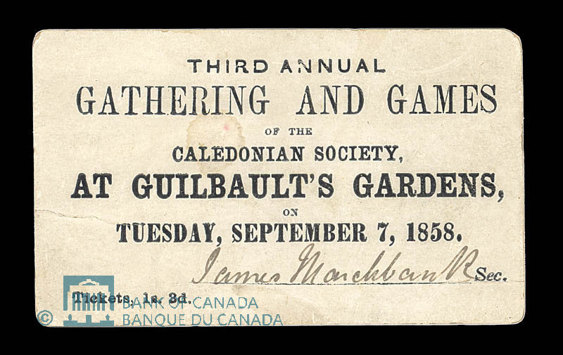 Canada, Guilbault's Gardens, 1 shilling, 3 pence : 1858