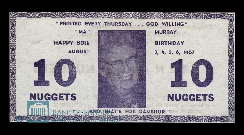 Canada, Lillooet Centennial Committee, 10 nuggets : August 6, 1967