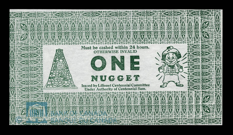 Canada, Lillooet Centennial Committee, 1 nugget : 1966