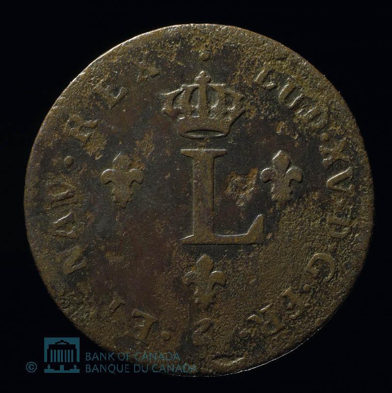 France, Louis XV, 2 sous : 1749