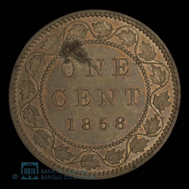 Canada, Victoria, 1 cent : 1858