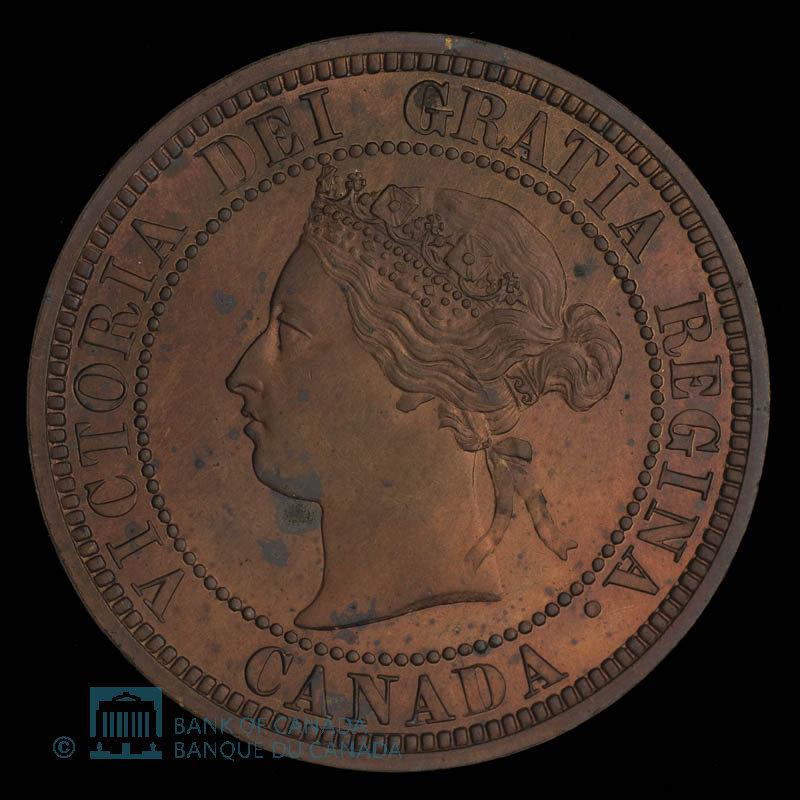 Canada, Victoria, 1 cent : 1876