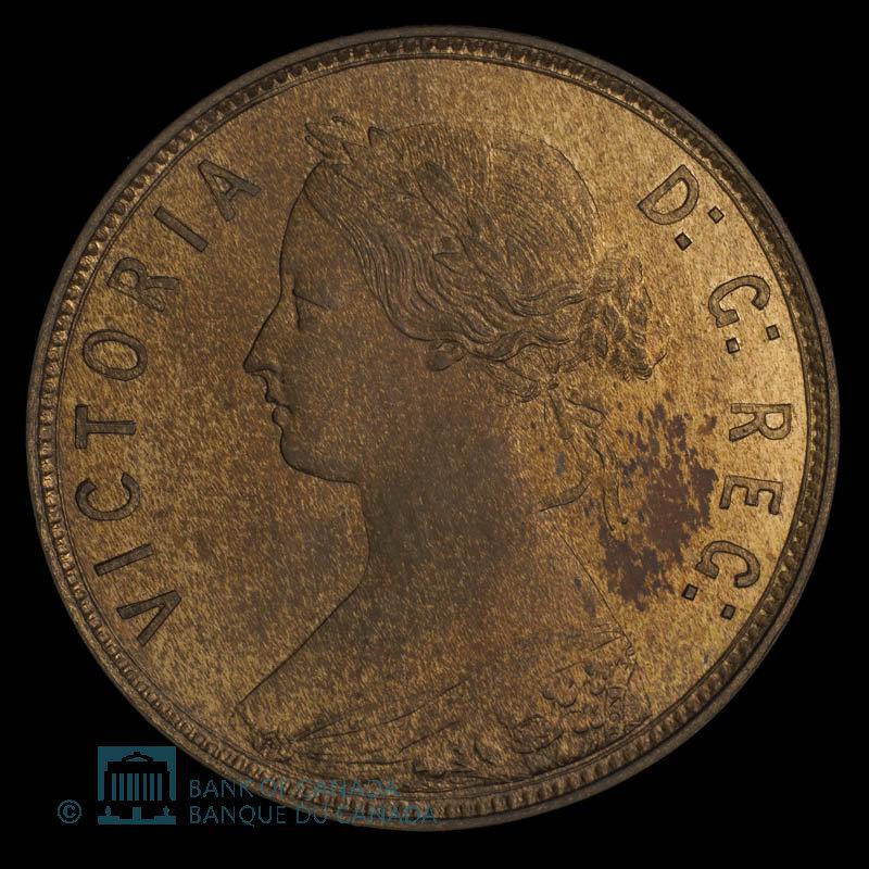 Canada, Victoria, 1 cent : 1864