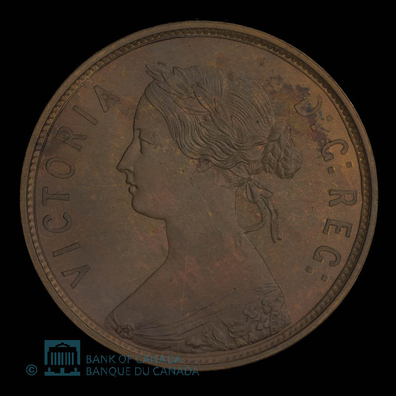 Canada, Victoria, 1 cent : 1873
