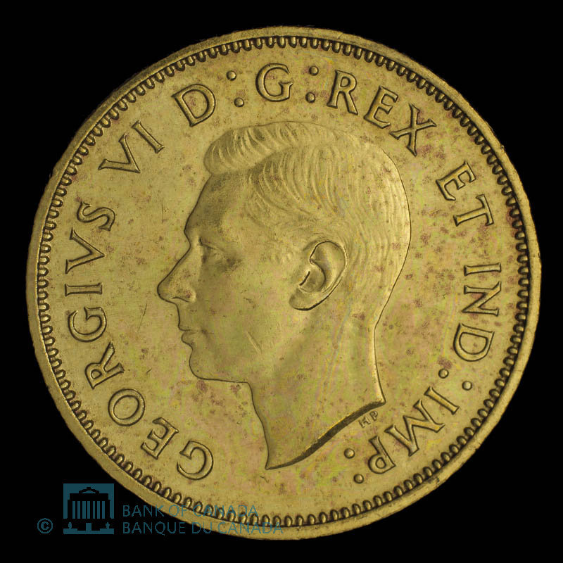 Canada, George VI, 5 cents : 1937