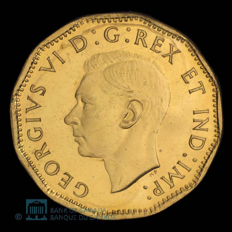Canada, George VI, 5 cents : 1943