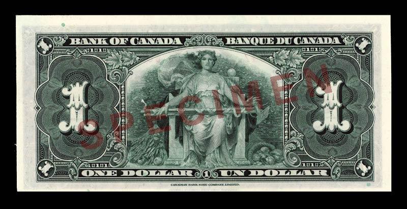 Canada, Bank of Canada, 1 dollar : January 2, 1937