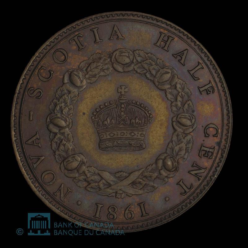 Canada, Victoria, 1/2 cent : 1861