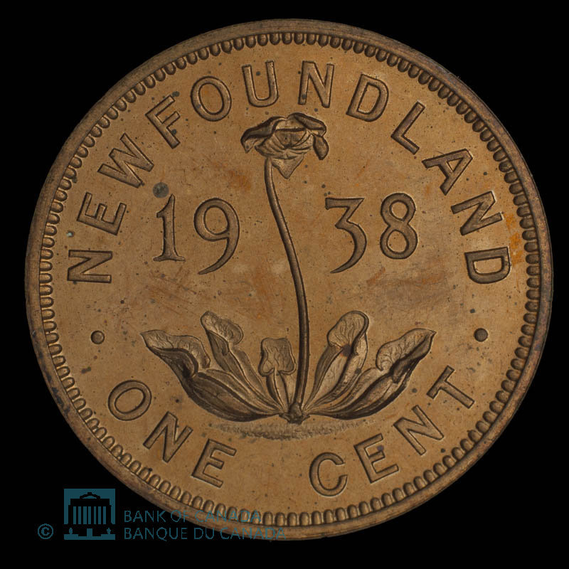 Canada, George VI, 1 cent : 1938
