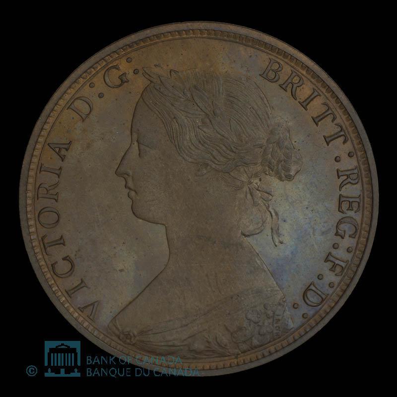 Canada, Victoria, 1 cent : 1861