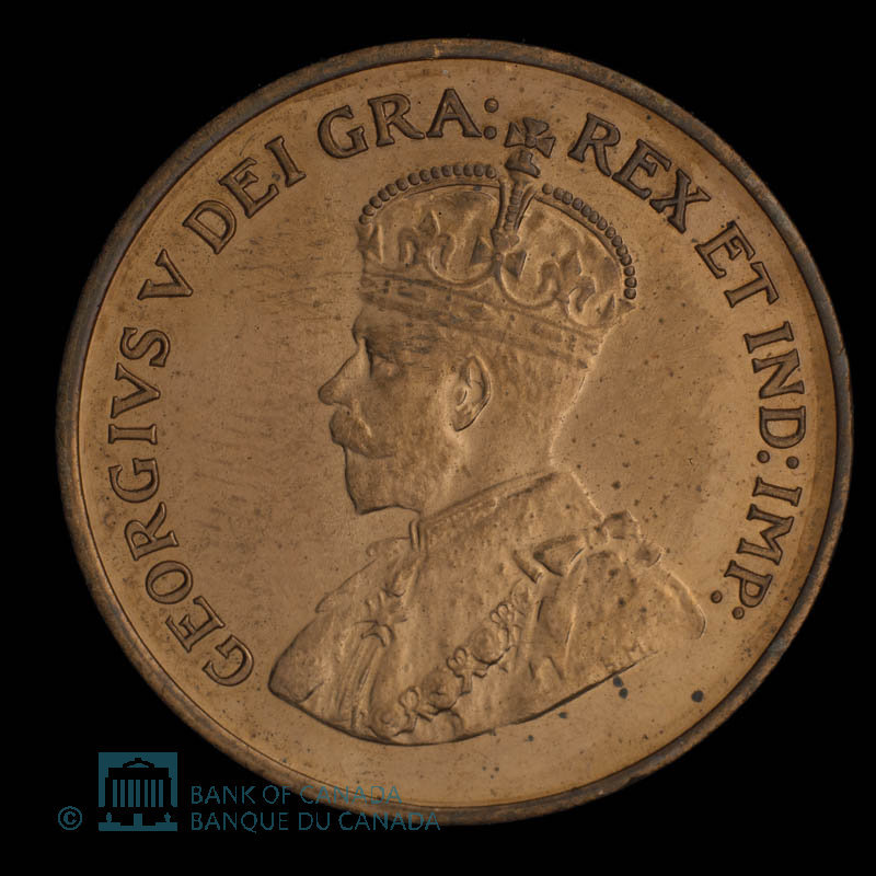 Canada, George V, 1 cent : 1928