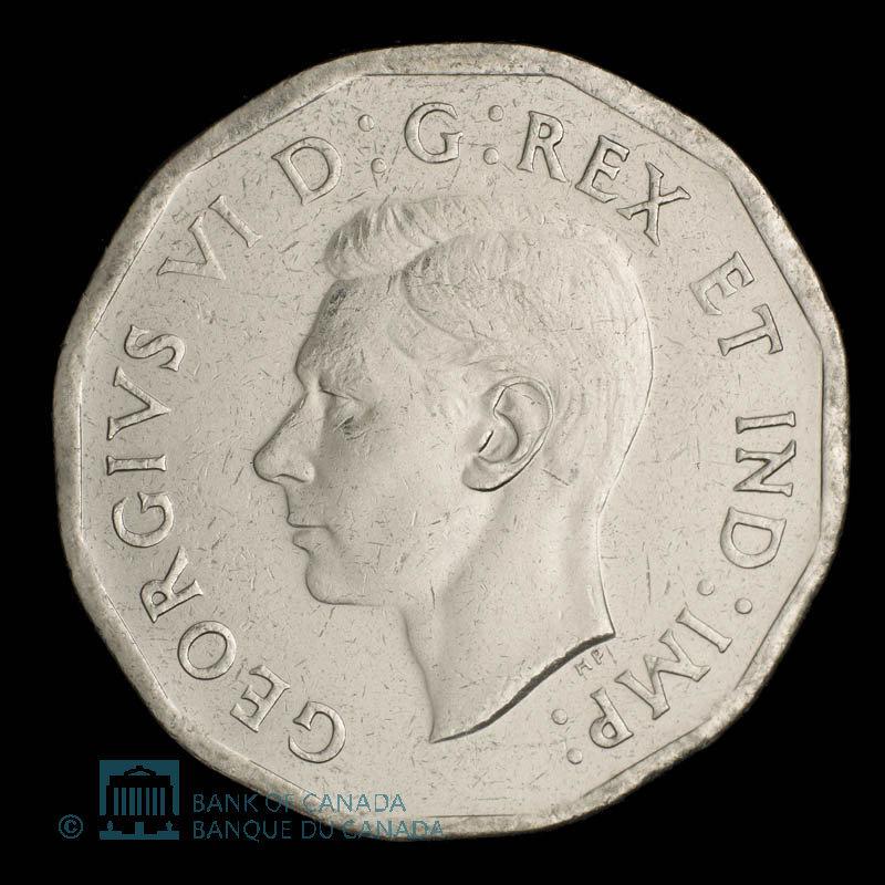Canada, George VI, 5 cents : 1942