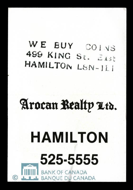 Canada, Arocan Realty Ltd., no denomination : 1979