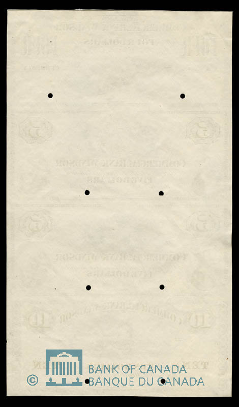 Canada, Commercial Bank of Windsor, 4 dollars : July 1, 1871