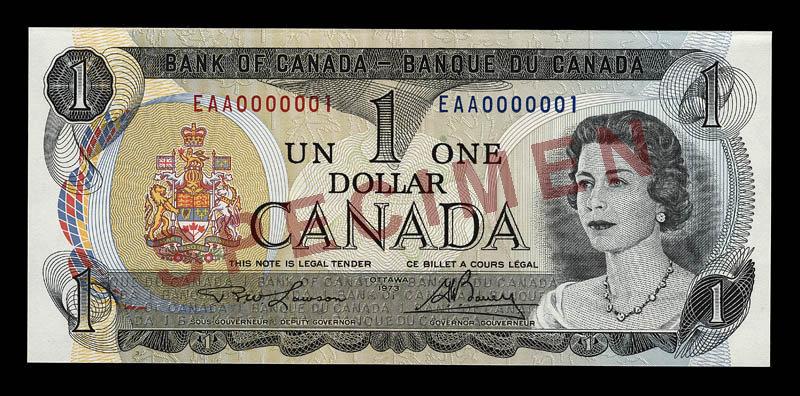 Canada, Bank of Canada, 1 dollar : 1973