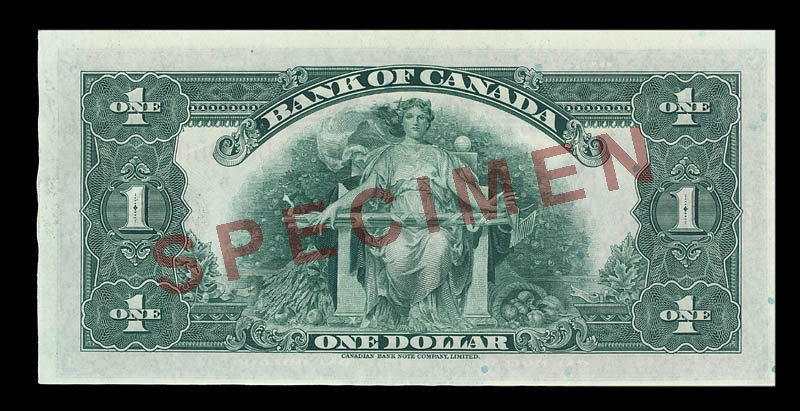 Canada, Bank of Canada, 1 dollar : 1935