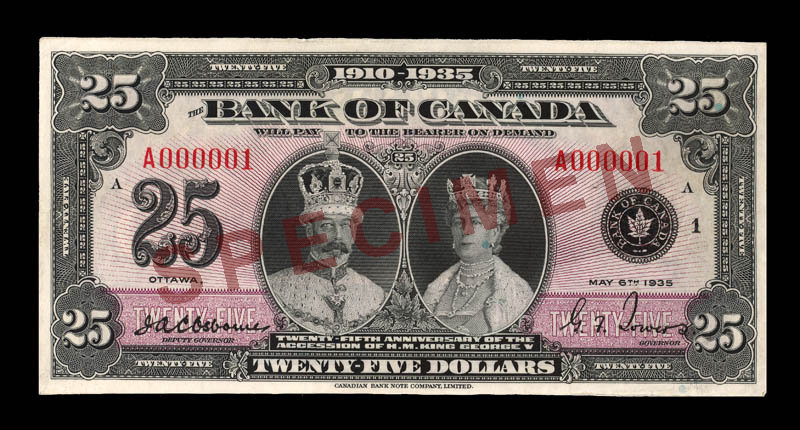 Canada, Bank of Canada, 25 dollars : May 6, 1935