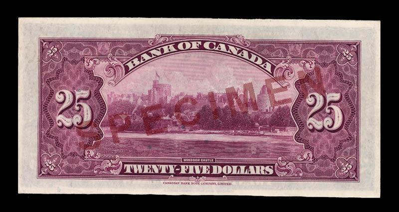 Canada, Bank of Canada, 25 dollars : May 6, 1935