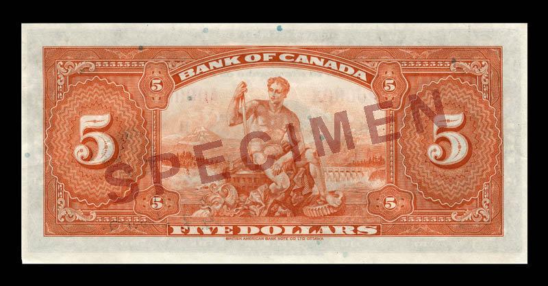 Canada, Bank of Canada, 5 dollars : 1935
